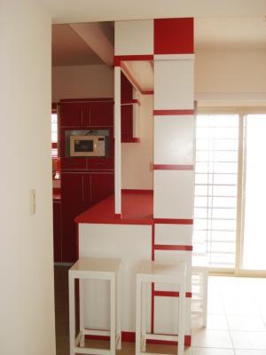 Barra esquinero y bancos de cocina integral closets - Bancos esquineros para cocina ...
